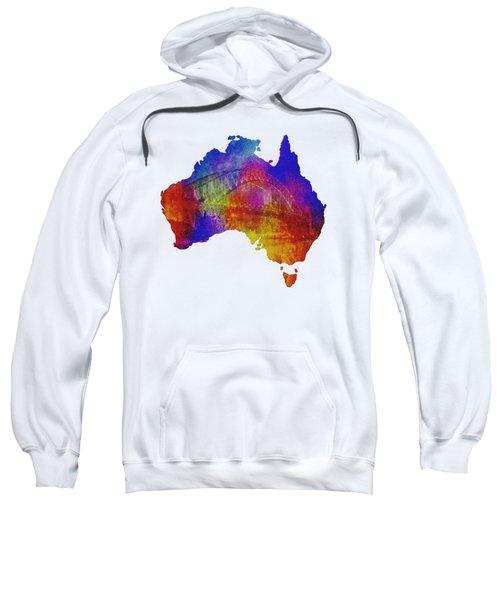 Australia And Sydney Harbour Bridge By Kaye Menner Sweatshirt by Kaye Menner