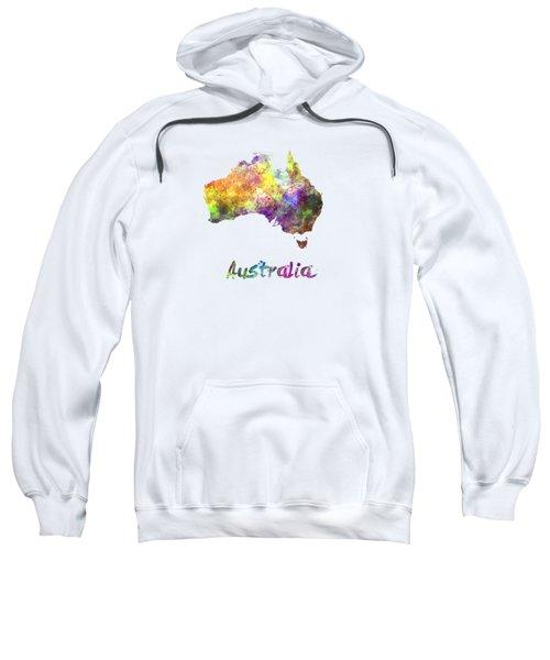 Australia  In Watercolor Sweatshirt