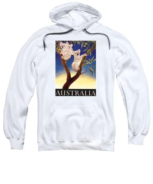 Australia Koala Vintage World Travel Poster By Eileen Mayo Sweatshirt