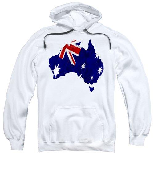 Australia Map Art With Flag Design Sweatshirt