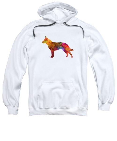 Australian Cattle Dog In Watercolor Sweatshirt