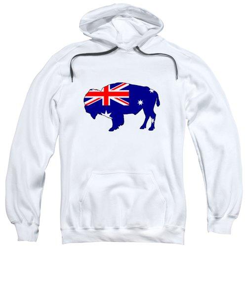 Australian Flag - Bison Sweatshirt by Mordax Furittus