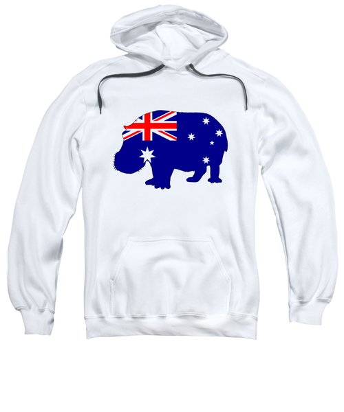 Australian Flag - Hippopotamus Sweatshirt by Mordax Furittus