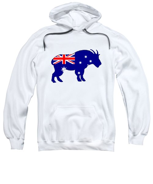 Australian Flag - Mountain Goat Sweatshirt by Mordax Furittus