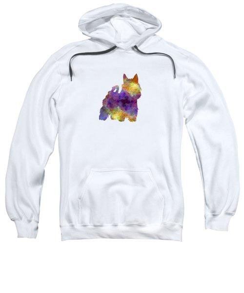 Australian Silky Terrier In Watercolor Sweatshirt