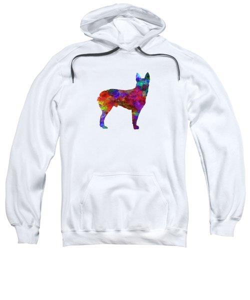 Australian Stumpy Tail Cattle Dog In Watercolor Sweatshirt