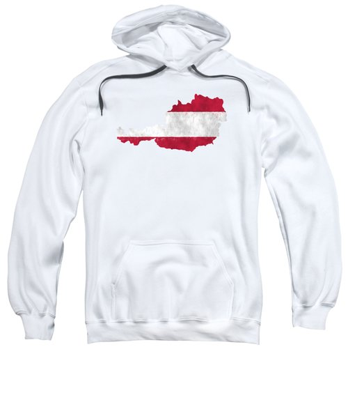 Austria Map Art With Flag Design Sweatshirt