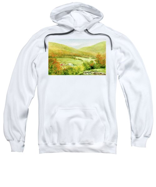 Autumn Farm In Vermont Sweatshirt