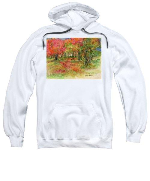 Autumn Forest Watercolor Illustration Sweatshirt