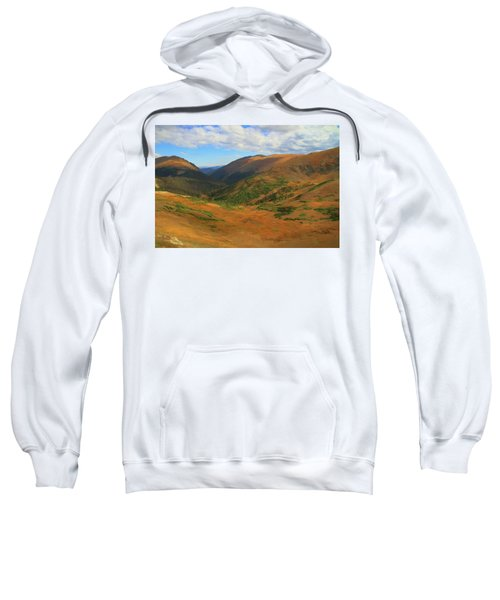 Autumn Valley From The Top Of Trail Ridge Road Sweatshirt