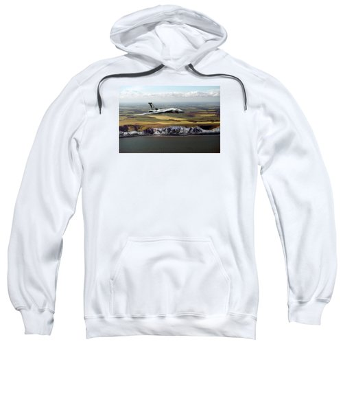Avro Vulcan Over The White Cliffs Of Dover Sweatshirt