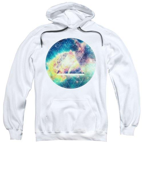 Awsome Collosal Deep Space Triangle Art Sign Sweatshirt
