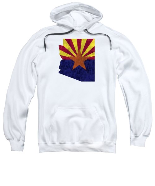 Azizona Map Art With Flag Design Sweatshirt