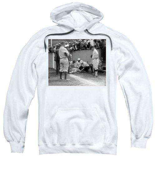Babe Ruth Knocked Out By A Wild Pitch Sweatshirt