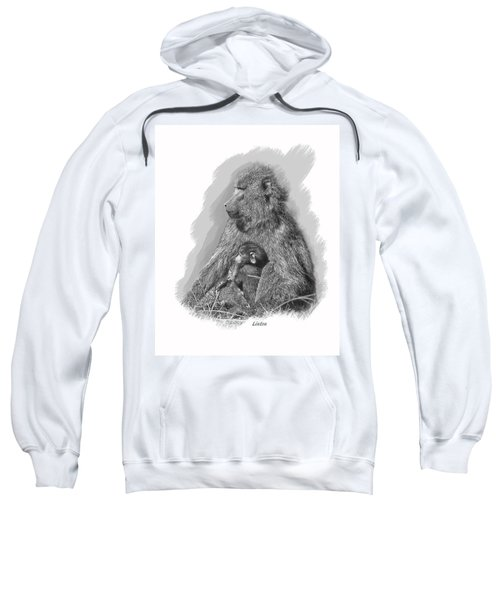 Baboon Mother And Young Sweatshirt