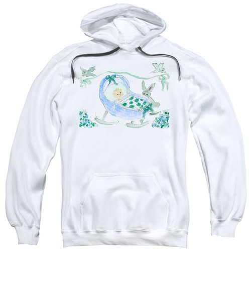 Baby Boy With Bunny And Birds Sweatshirt
