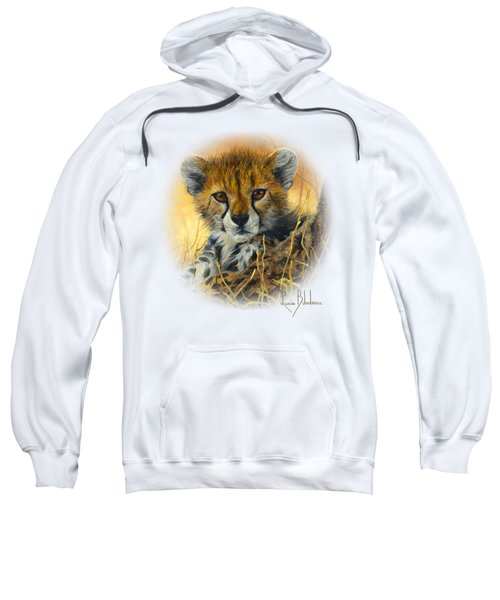 Baby Cheetah  Sweatshirt by Lucie Bilodeau