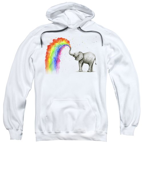 Baby Elephant Spraying Rainbow Sweatshirt