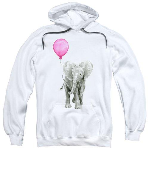 Baby Elephant Watercolor  Sweatshirt