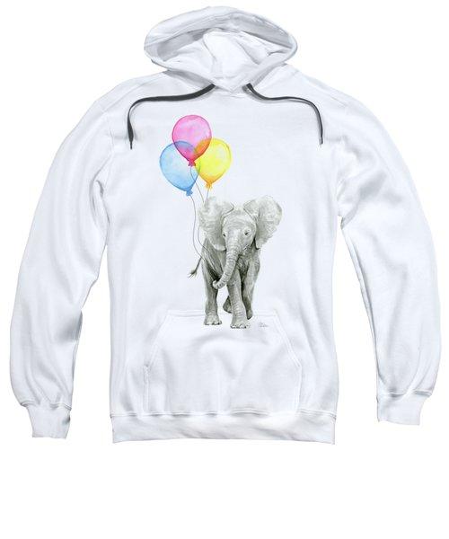 Baby Elephant With Baloons Sweatshirt