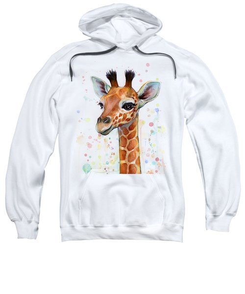 Baby Giraffe Watercolor  Sweatshirt