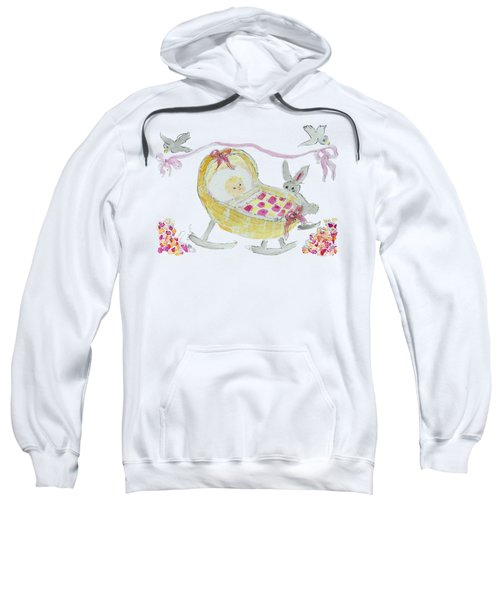 Baby Girl With Bunny And Birds Sweatshirt