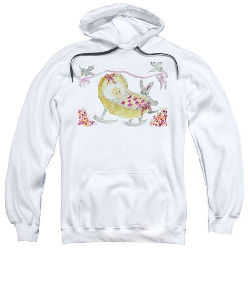 Baby Girl With Bunny And Birds Sweatshirt