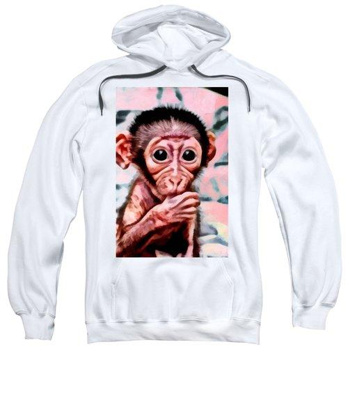 Baby Monkey Realistic Sweatshirt