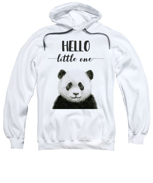 Baby Panda Hello Little One Nursery Decor Sweatshirt
