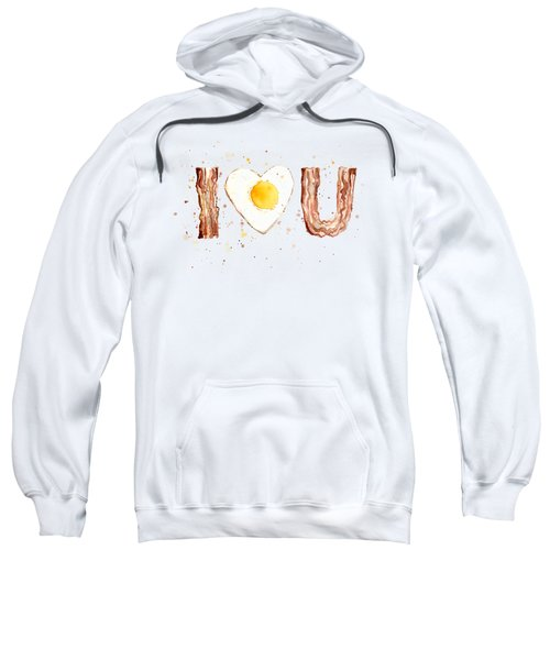 Bacon And Egg I Love You Sweatshirt