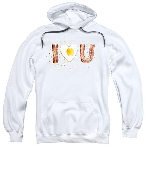 Bacon And Egg I Love You Sweatshirt