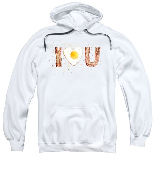 Bacon And Egg Love Sweatshirt by Olga Shvartsur