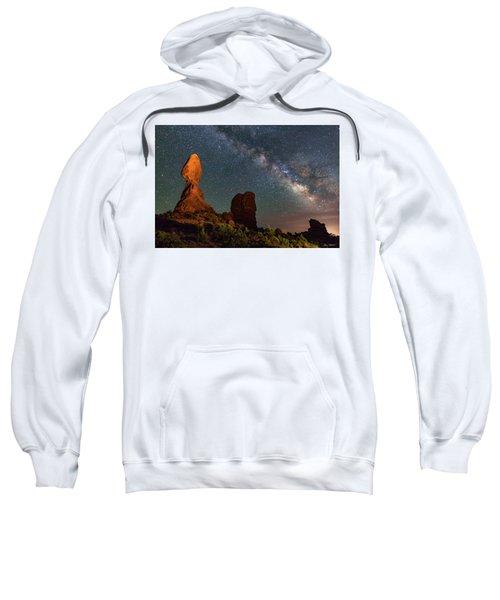 Balanced Rock And Milky Way Sweatshirt