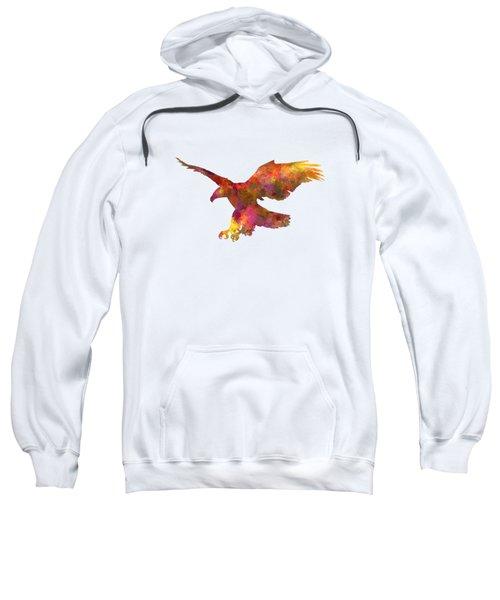 Bald Eagle 01 In Watercolor Sweatshirt