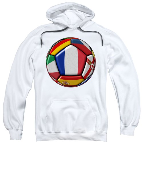 Ball With Flag Of France In The Center Sweatshirt