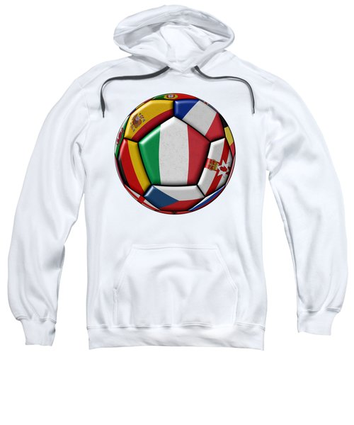 Ball With Flag Of Italy In The Center Sweatshirt