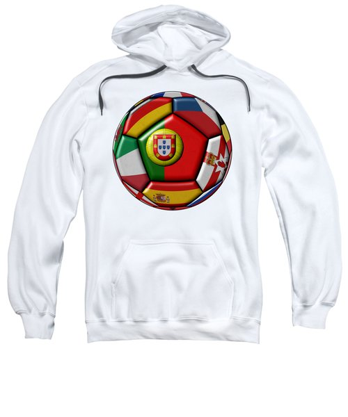 Ball With Flag Of Portugal In The Center Sweatshirt