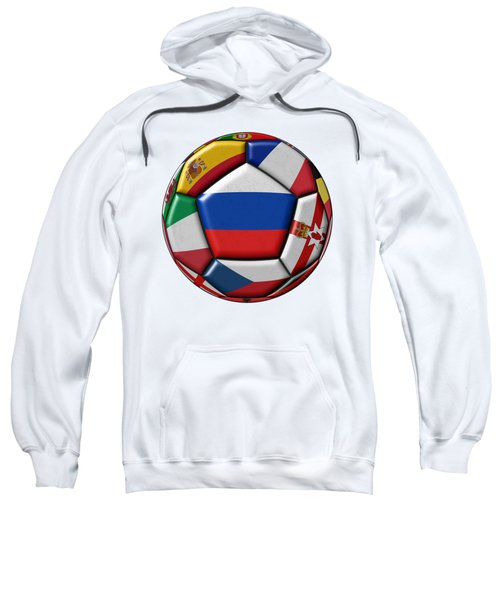 Ball With Flag Of Russia In The Center Sweatshirt