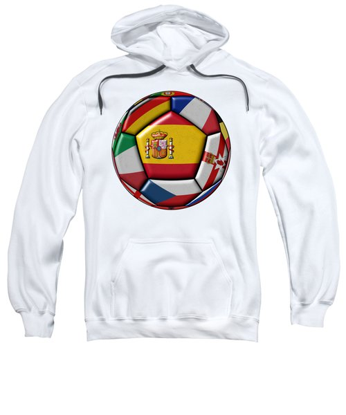 Ball With Flag Of Spain In The Center Sweatshirt