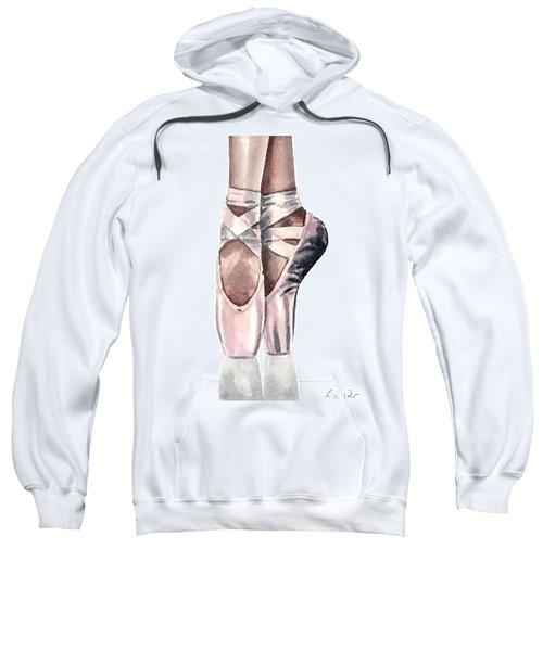 Ballet Shoes En Pointe Pink Slippers Toe Shoes Ballerina Sweatshirt