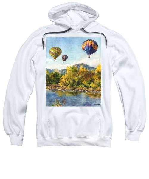 Balloons At Twin Lakes Sweatshirt