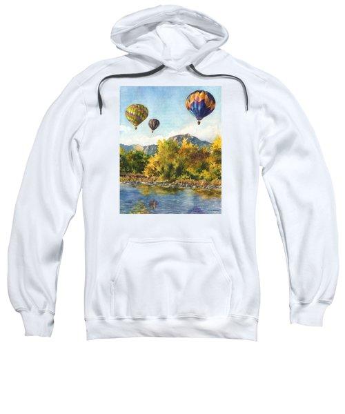 Balloons At Twin Lakes Sweatshirt