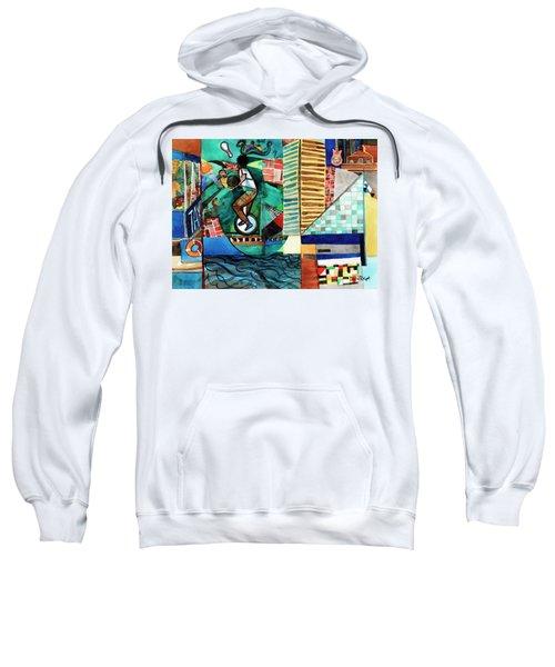 Baltimore Inner Harbor Street Performer Sweatshirt