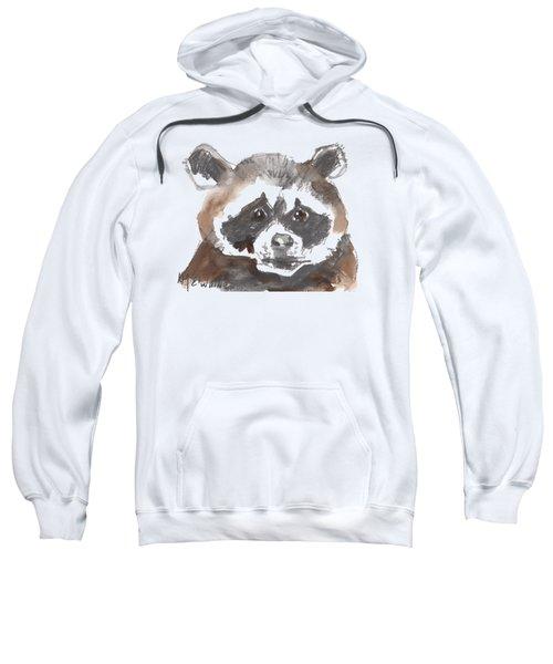 Bandit Raccoon Sweatshirt by Kathleen McElwaine
