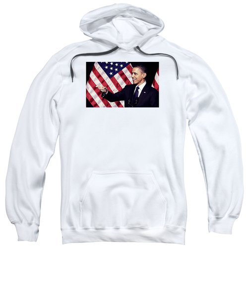 Barack Obama Sweatshirt by Iguanna Espinosa