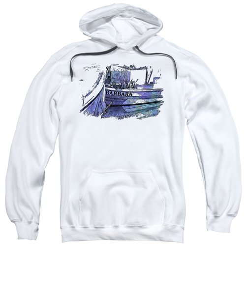 Barbara Berry Blues 3 Dimensional Sweatshirt