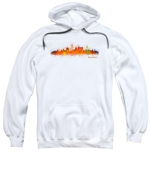 Barcelona City Skyline Hq _v3 Sweatshirt