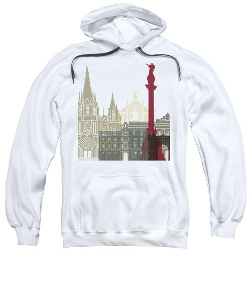 Barcelona Skyline Poster Sweatshirt