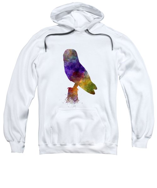 Barn Owl 01 In Watercolor Sweatshirt