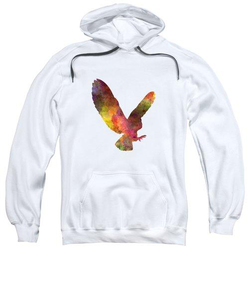 Barn Owl 02 In Watercolor Sweatshirt